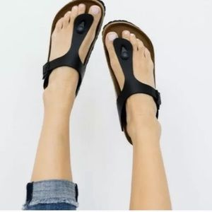 Birkenstock gizeh sandals black 38